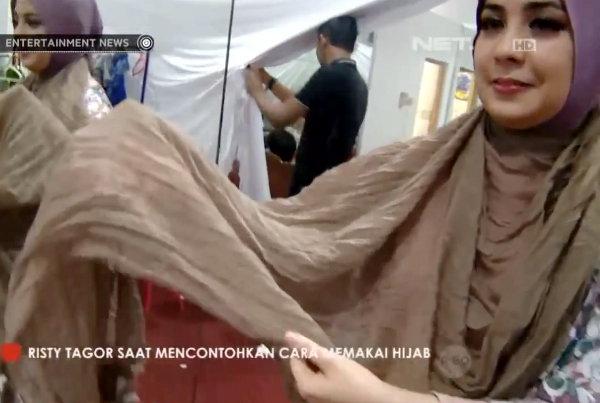 Tutorial Hijab Tanpa Peniti/Jarum Pentul Ala Risty Tagor   Tutorial ...