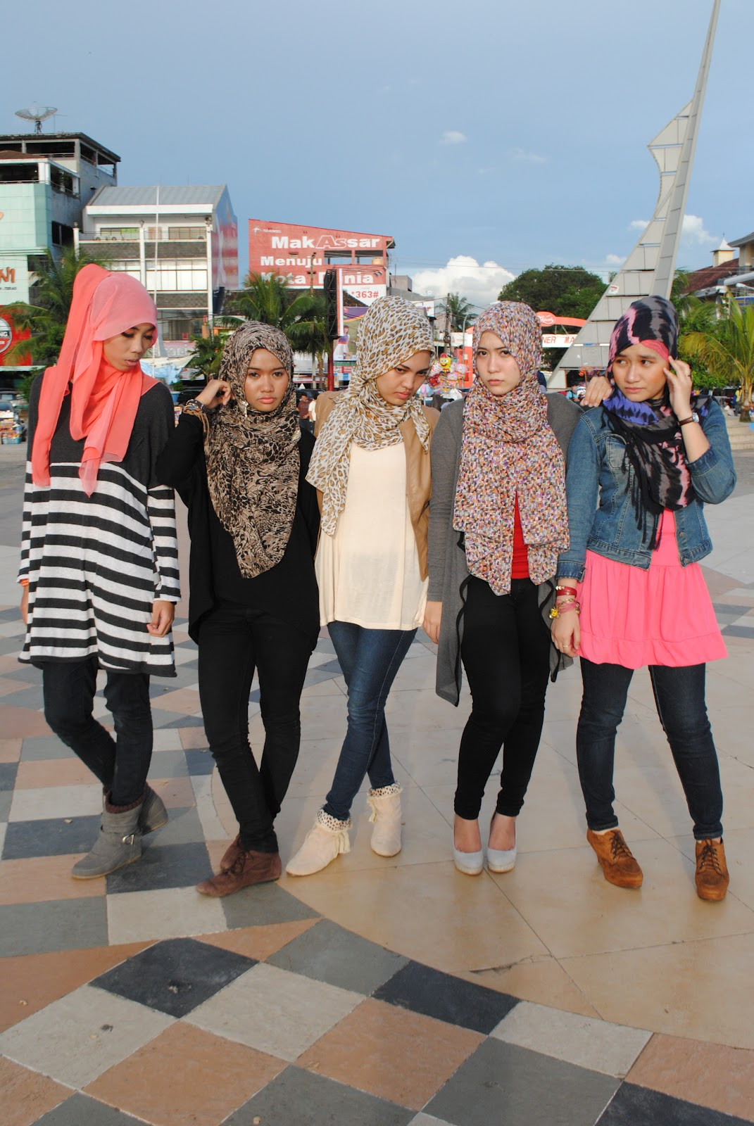 Hijab Street Style Edisi Ramadhan 1435 Tutorial Pashmina