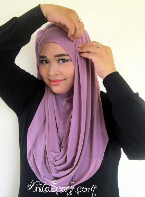 Hijab Tutorial Hanna Dewi Sandra di Sinetron Catatan Hati Seorang Istri  Tutorial Pashmina by