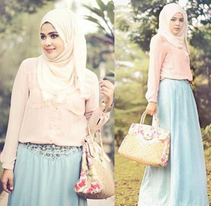 Hijab Style Gaya Streetstyle Noni Zakiah Desainer Berdarah Arab Tutorial Pashmina By Anita Scarf