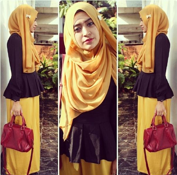 Skirt Ala Hijaber Natasha Farani   Tutorial Pashmina by Anita Scarf ...