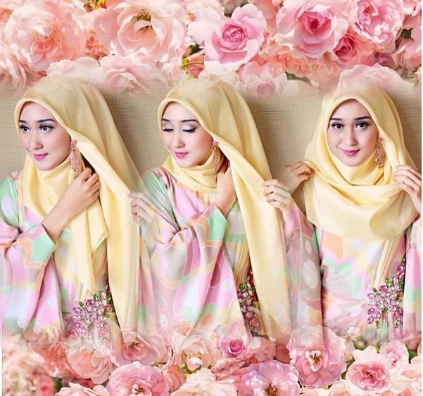 Cara Memakai Hijab Segiempat | Tutorial Pashmina by Anita