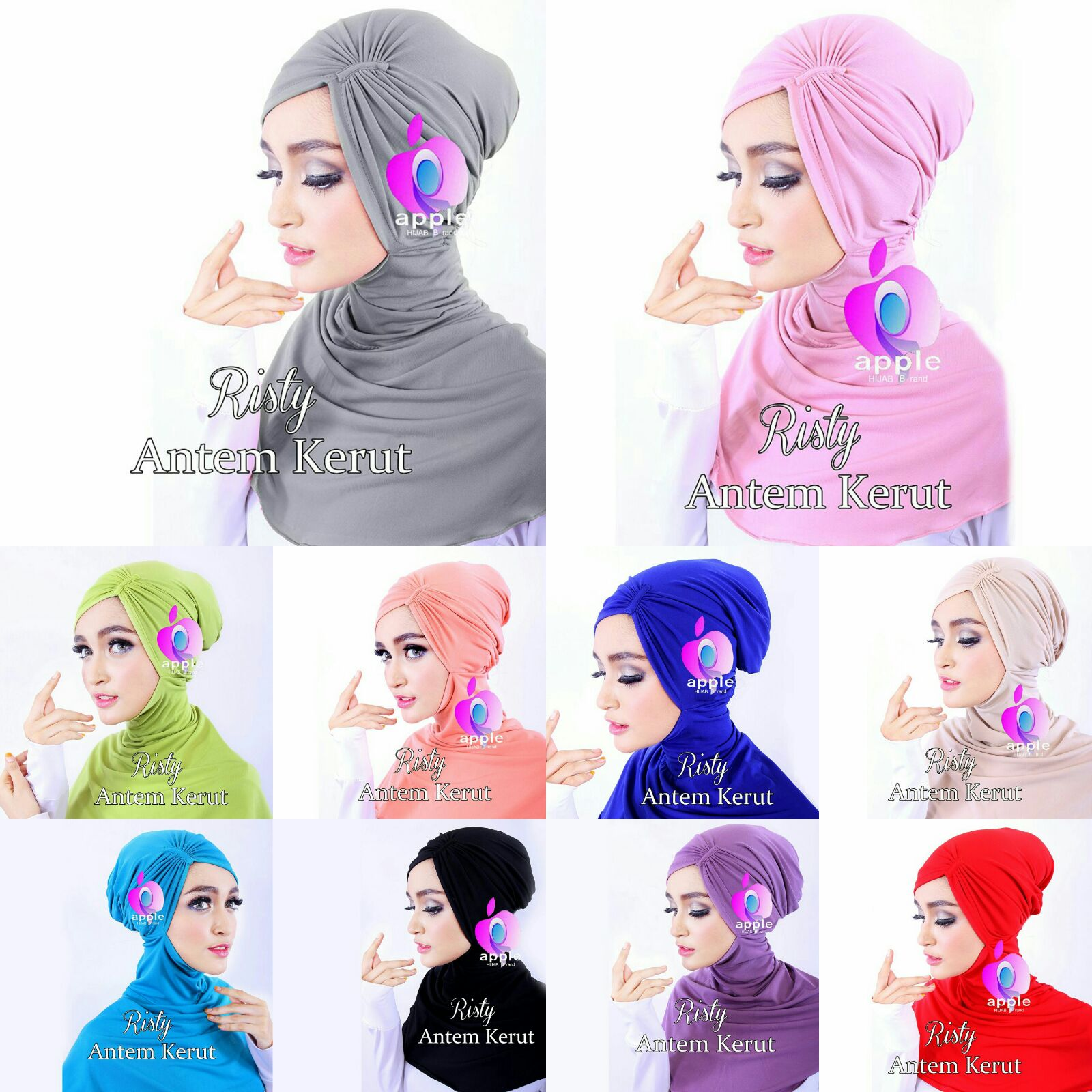 Ciput Antem Risty Kerut By Apple Hijab